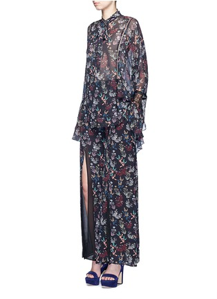 Figure View - Click To Enlarge - 72723 - Garden floral print silk palazzo pants