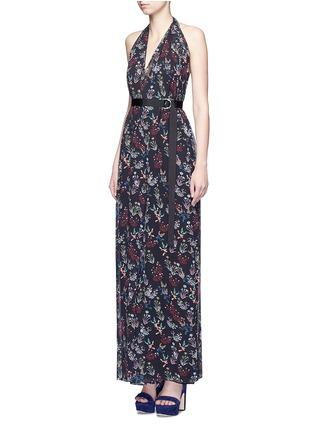 Figure View - Click To Enlarge - 72723 - Garden floral print silk halter jumpsuit