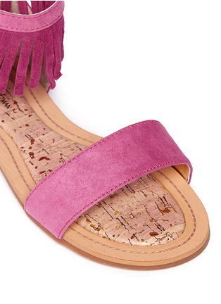 Detail View - Click To Enlarge - STUART WEITZMAN - 'Camia Anna' kids fringe sandals