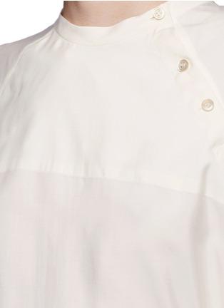 Detail View - Click To Enlarge - Isabel Marant - Sash tie asymmetric silk shirt top