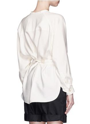 Back View - Click To Enlarge - Isabel Marant - Sash tie asymmetric silk shirt top