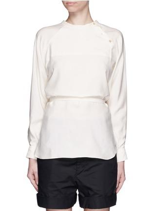 Main View - Click To Enlarge - Isabel Marant - Sash tie asymmetric silk shirt top