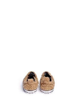 Back View - Click To Enlarge - 90107 - 'Chuck Taylor Creatures Ox' mammoth faux fur toddler sneakers