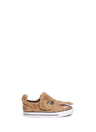 Main View - Click To Enlarge - 90107 - 'Chuck Taylor Creatures Ox' mammoth faux fur toddler sneakers