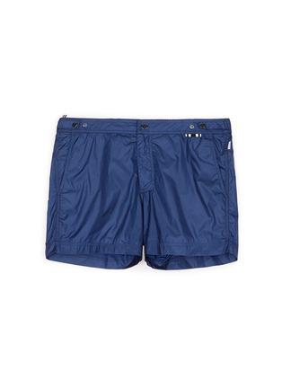 Main View - Click To Enlarge - DANWARD - Solid flat front elastic back swim shorts