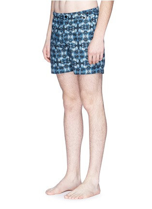 Figure View - Click To Enlarge - DANWARD - Photographic floral print swim shorts