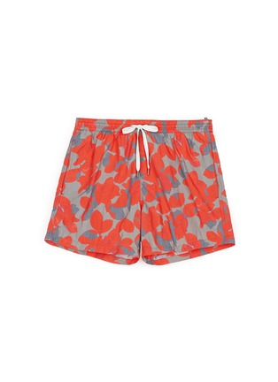 Main View - Click To Enlarge - DANWARD - Floral camouflage print elastic swim shorts