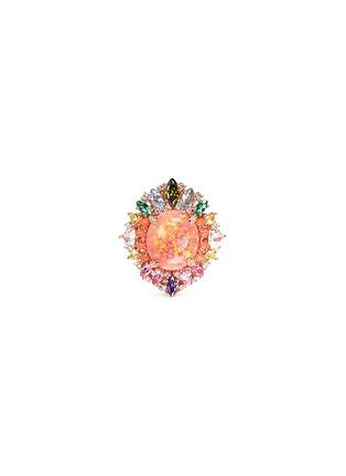 Main View - Click To Enlarge - Anabela Chan - 'Opals Nereides' diamond pavé gemstone ring