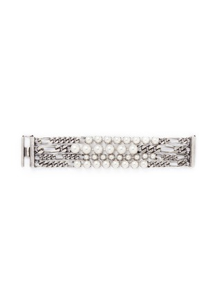 Main View - Click To Enlarge - Lanvin - Glass pearl curb chain bracelet