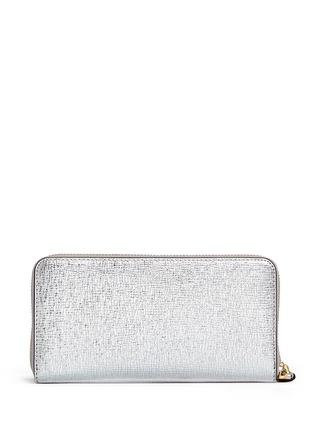 Figure View - Click To Enlarge - Anya Hindmarch - 'Space Invaders' embossed metallic leather continental wallet