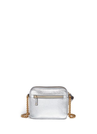 Back View - Click To Enlarge - Anya Hindmarch - 'Eyes' embossed metallic leather crossbody bag