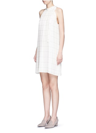 Front View - Click To Enlarge - Theory - 'Espere' tile print silk dress