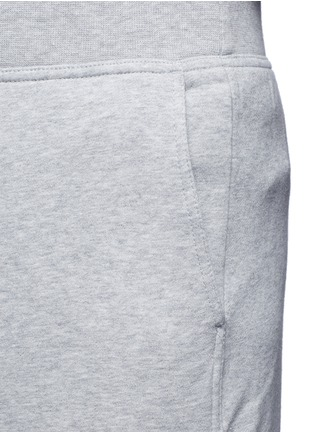 Detail View - Click To Enlarge - T By Alexander Wang - Vintage fleece zip fly sweatpants