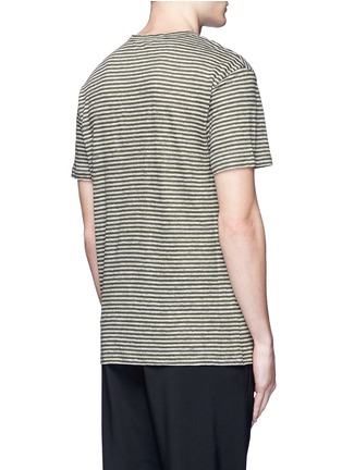 Back View - Click To Enlarge - T By Alexander Wang - Stripe linen T-shirt