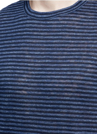 Detail View - Click To Enlarge - T By Alexander Wang - Stripe linen T-shirt