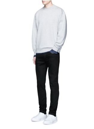 Figure View - Click To Enlarge - T By Alexander Wang - Stripe linen T-shirt