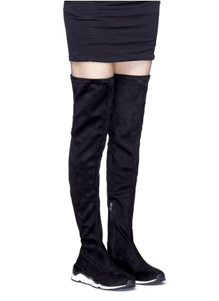 Figure View - Click To Enlarge - Ash - 'Miracle' faux suede thigh high sneakers