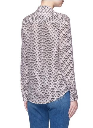 Back View - Click To Enlarge - Equipment - 'Brett' animal print silk shirt