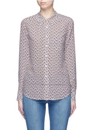 Main View - Click To Enlarge - Equipment - 'Brett' animal print silk shirt