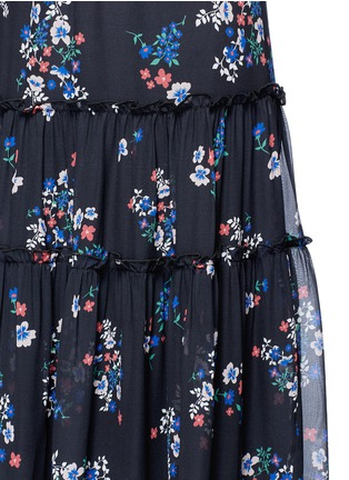 Detail View - Click To Enlarge - 72723 - 'Posie' floral print tiered silk maxi skirt