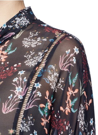 Detail View - Click To Enlarge - Nicholas - Garden floral print batwing silk shirt