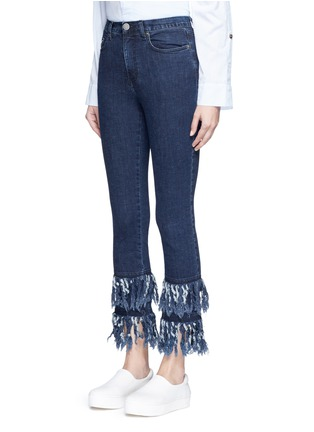 Front View - Click To Enlarge - Nicholas - Frayed cuff flare jeans