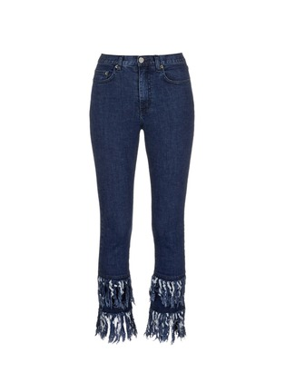 Main View - Click To Enlarge - Nicholas - Frayed cuff flare jeans