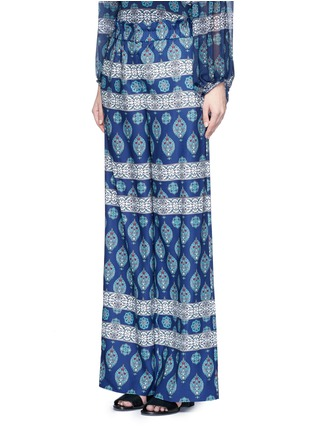 Front View - Click To Enlarge - Nicholas - Temple print crepe palazzo pants