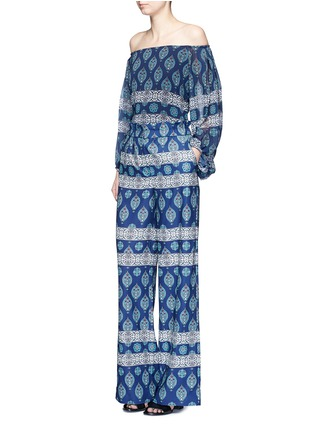 Figure View - Click To Enlarge - Nicholas - Temple print crepe palazzo pants