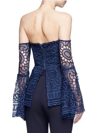 Back View - Click To Enlarge - Nicholas - 'Eva' off-shoulder floral lace top