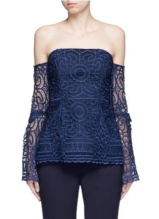 Main View - Click To Enlarge - Nicholas - 'Eva' off-shoulder floral lace top