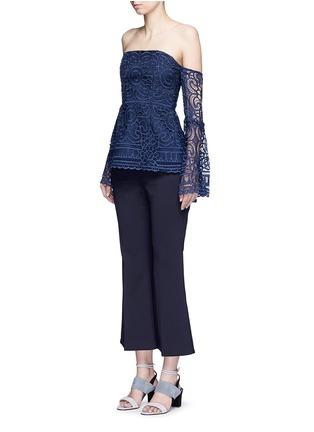 Figure View - Click To Enlarge - Nicholas - 'Eva' off-shoulder floral lace top
