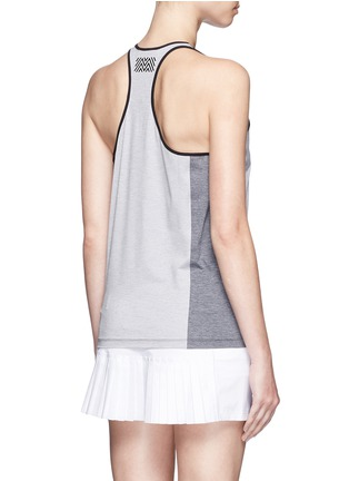 Back View - Click To Enlarge - Monreal London - Mélange performance jersey racer tank top