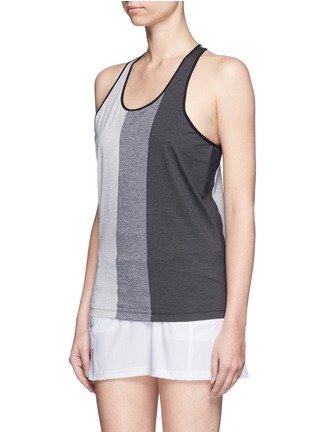 Front View - Click To Enlarge - Monreal London - Mélange performance jersey racer tank top