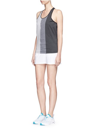 Figure View - Click To Enlarge - Monreal London - Mélange performance jersey racer tank top