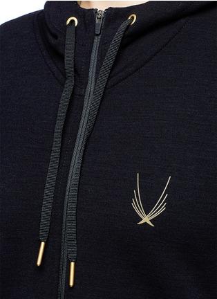 Detail View - Click To Enlarge - Lucas Hugh - 'Halo' hooded wool blend zip jacket