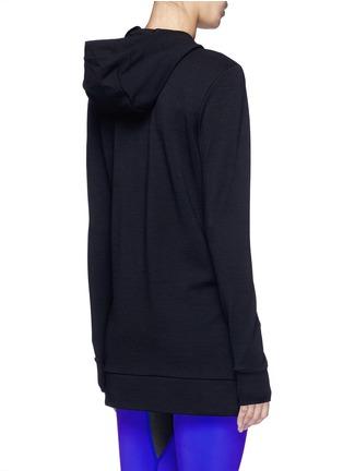 Back View - Click To Enlarge - Lucas Hugh - 'Halo' hooded wool blend zip jacket
