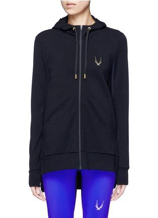 Main View - Click To Enlarge - Lucas Hugh - 'Halo' hooded wool blend zip jacket