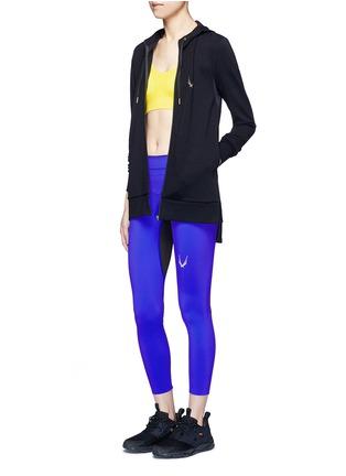 Figure View - Click To Enlarge - Lucas Hugh - 'Halo' hooded wool blend zip jacket