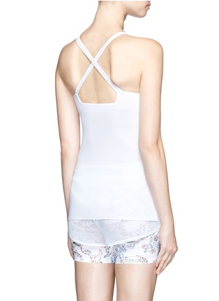 Back View - Click To Enlarge - Lucas Hugh - 'Core Performance' cross back tank top