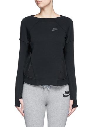 Main View - Click To Enlarge - Nike - 'Tech Fleece Mesh Crew' sweatshirt