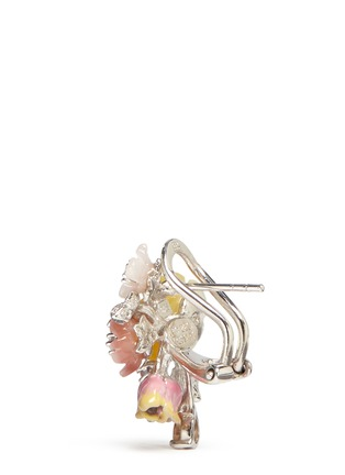 Detail View - Click To Enlarge - Anabela Chan - 'Bouquet' diamond mother of pearl stud earrings