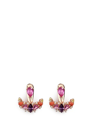Main View - Click To Enlarge - Anabela Chan - 'Twinkle' diamond gemstone pavé jacket earring