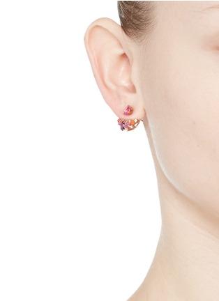 Figure View - Click To Enlarge - Anabela Chan - 'Twinkle' diamond gemstone pavé jacket earring