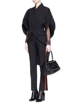 Figure View - Click To Enlarge - GIVENCHY - 'Pandora' small sheepskin leather bag