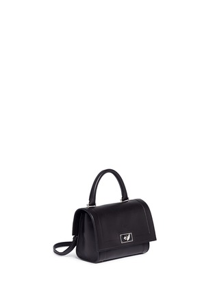 Front View - Click To Enlarge - Givenchy - 'Shark' mini leather bag