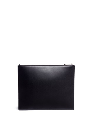 Back View - Click To Enlarge - Givenchy - 'I Feel Love' print iconic leather zip pouch