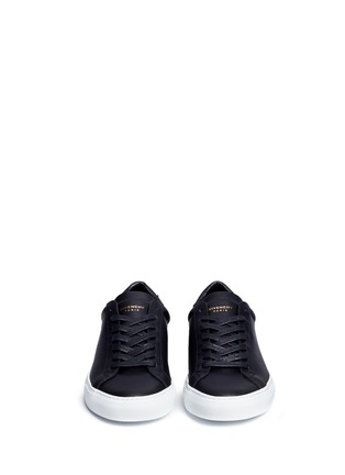 Front View - Click To Enlarge - Givenchy - 'Urban Street' knot collar leather sneakers