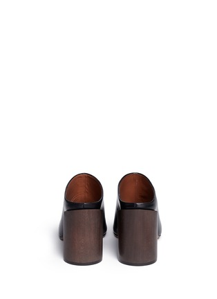 Back View - Click To Enlarge - Givenchy - '9 Edgy' wooden heel open toe leather mules
