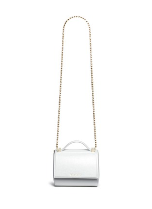 Main View - Click To Enlarge - Givenchy - 'Pandora Box' mini saffiano patent leather chain bag